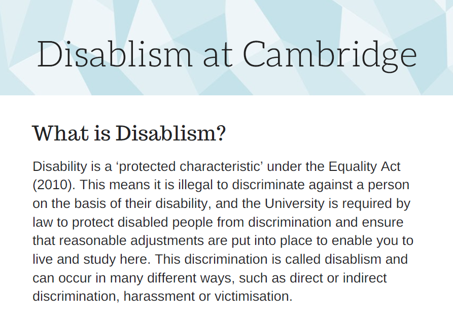 We're developing a discrimination reporting system!