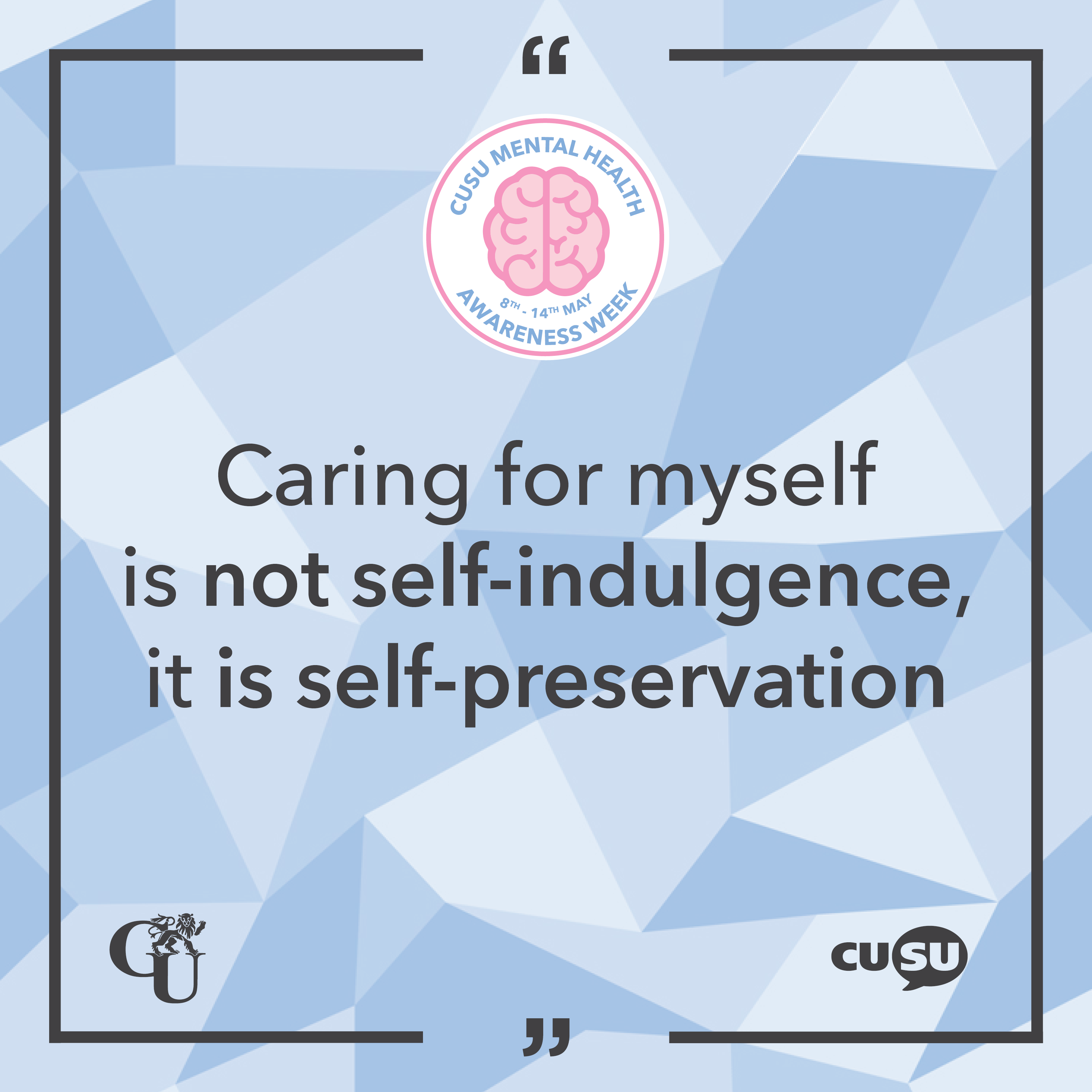 The Importance of Self-Care – #MHAW17