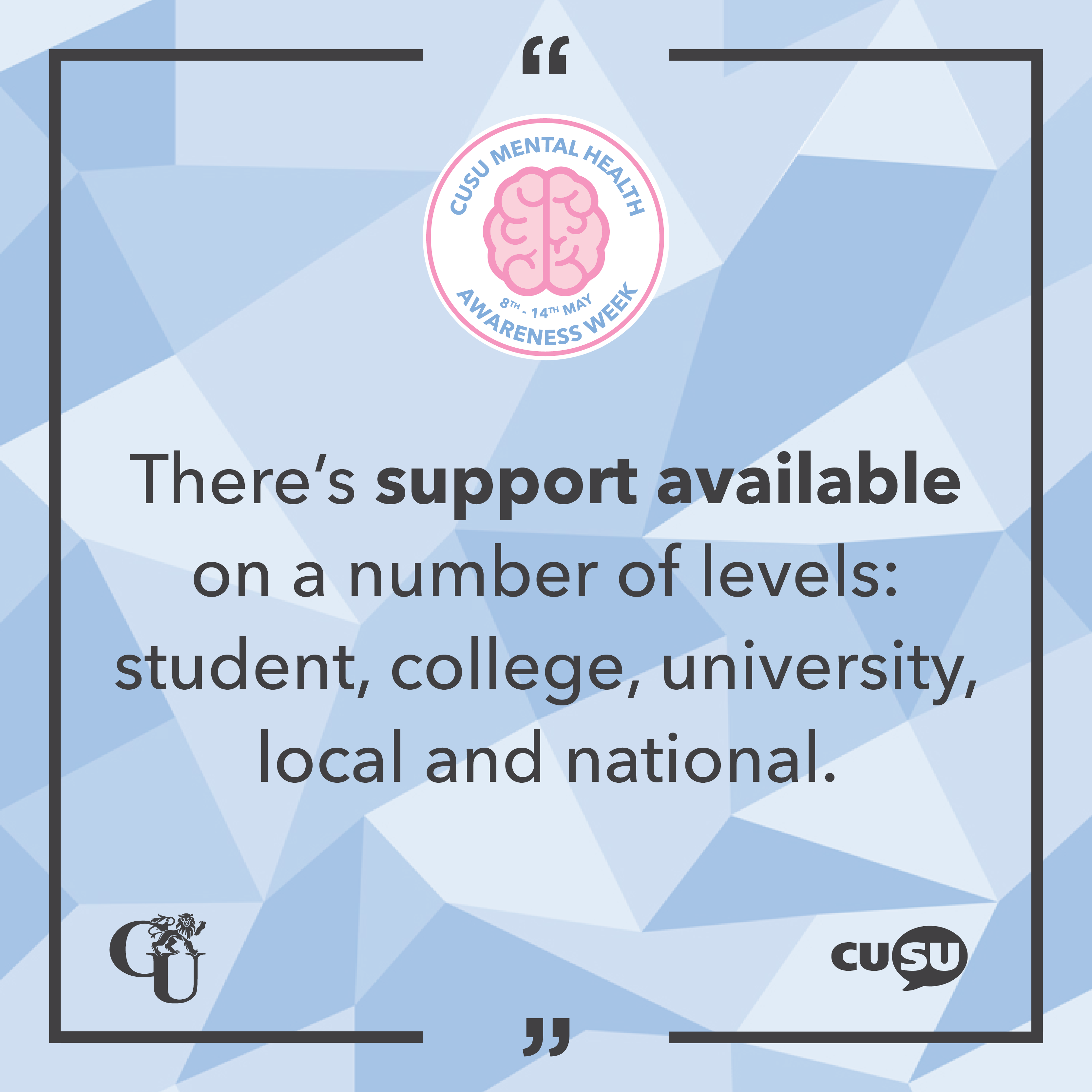 Accessing Support Services at Cambridge – #MHAW17